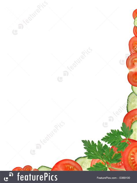 templates vegetables border stock image