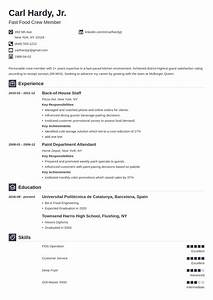 Fast Food Resume Sample  U0026 Writing Guide  10  Tips