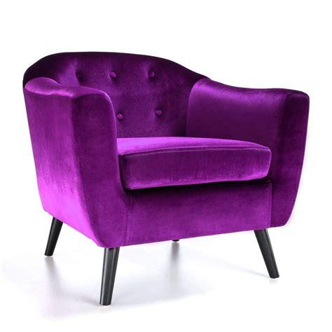 fauteuil scandinave velours violet pas cher d 233 co
