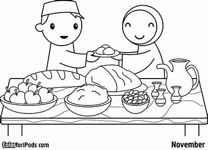 Coloring Eid Pages Mubarak Ramadan Printable Happy