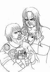 Wwe Shield Coloring Seth Rollins Raw Characters Hell Diva Template Templates sketch template