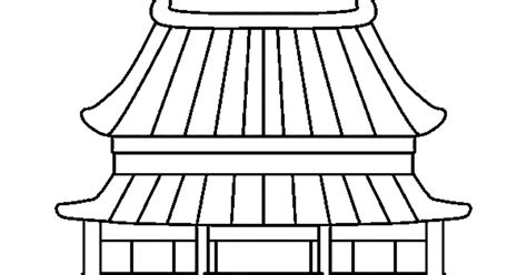 mewarnai gambar rumah tradisional cina