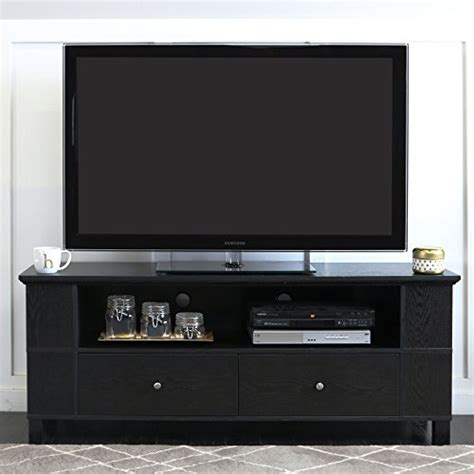 best buy cabinet tv walker edison 58 quot black wood storage tv cabinet best buy