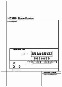 Harman Kardon Hk 3370  Serv Man9  User Guide    Operation
