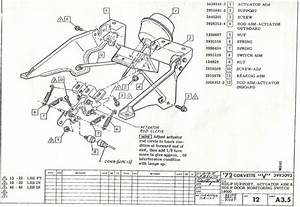 1972 Corvette  Headlight And Vacuum Line Component Schematic