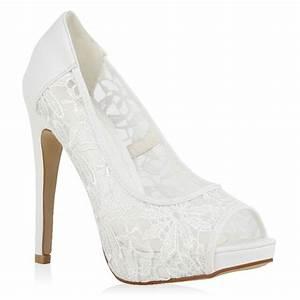 Weiße Schuhe Damen Hochzeit : edle damen braut schuhe wei 94798 pumps hochzeit 36 41 ebay ~ Eleganceandgraceweddings.com Haus und Dekorationen