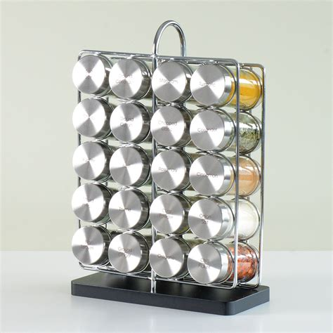 Pre Filled Spice Rack by Brand New Procook Contemporary Spice Rack 20 Jars With
