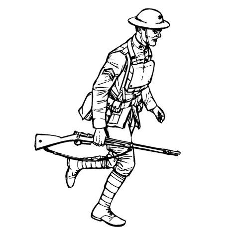 Kleurplaat Soldaten Met Geweer by Leuk Voor Soldaat Uit De 1e Wereldoorlog