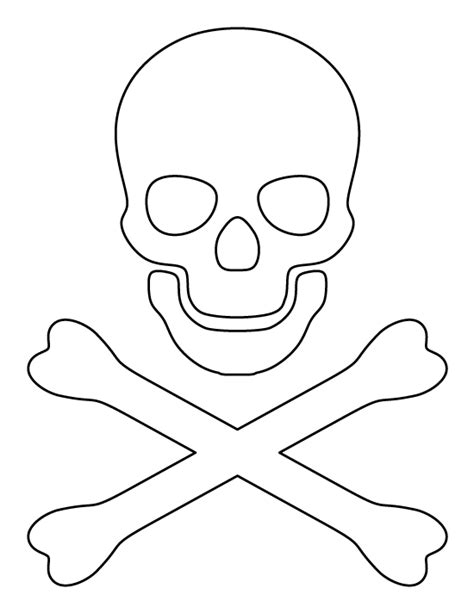 Diy Pirate Hat Template Crossbones Pattern Use The Printable Outline For Crafts
