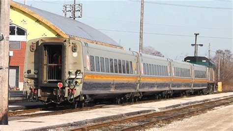 Via Rail Train #70 Reversing At Windsor, Ontario, 14.03.12