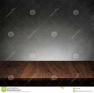 Wood Table With Dark Concrete Texture Background Royalty