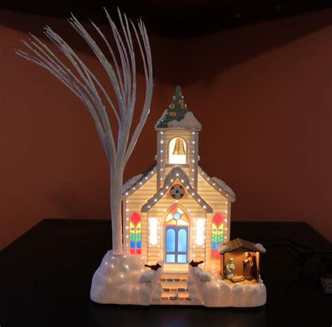 avon s splendor fiber optic lighted church table decor serving pieces