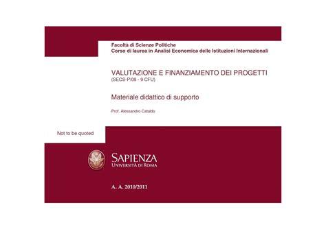 Matematica Finanziaria Dispense by Elementi Di Matematica Finanziaria Dispense