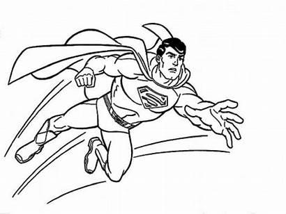 Superman Mewarnai Coloring Belajar Gambar Terbang Kartun