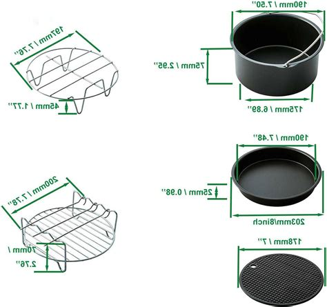 fryer air pieces xl accessories airfryer inch accessory recommendation