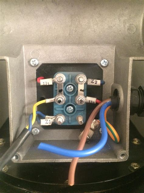 wiring   wire   single phase electric blower