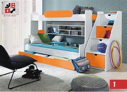 Bed Bunk Triple Furniture Segan Functional Modern