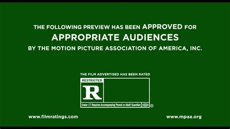Rated R Mpaa Trailer Ids Logo (2013) Bumpers Youtube