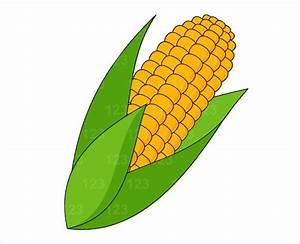 Items similar to Vegetable Sweet Corn Single Digital Clip ...