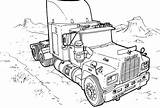 Coloring Monster Pages Truck Trucks Printable sketch template