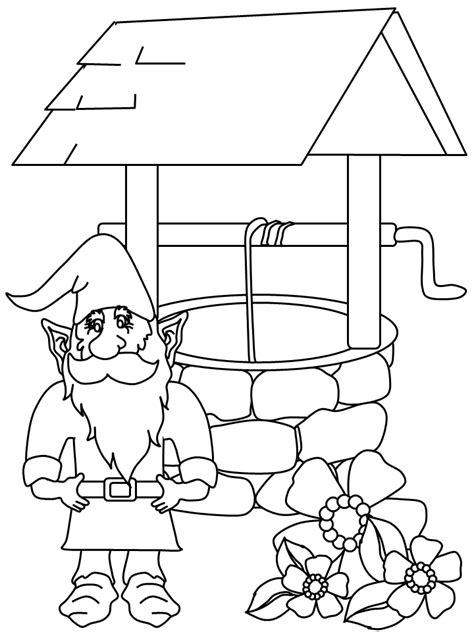 printable gnome fantasy coloring pages coloringpagebookcom