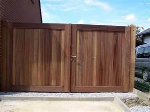 Portail En Bois : portail en bois exotique ~ Premium-room.com Idées de Décoration