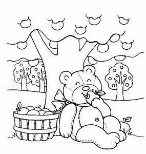 Teddy Bear Coloring Pages For Kids Coloringpagesabccom