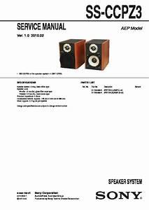 Sony Cmt-cpz3  Ss-ccpz3 Service Manual