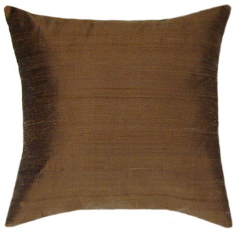 brown decorative pillows dupioni brown silk throw pillow decorative pillows