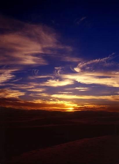 Desert Sahara Sunset Africa Sunsets Dusk Mysterious