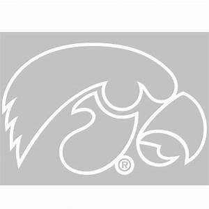 Iowa Hawkeyes Tiger Hawk Outline Decal