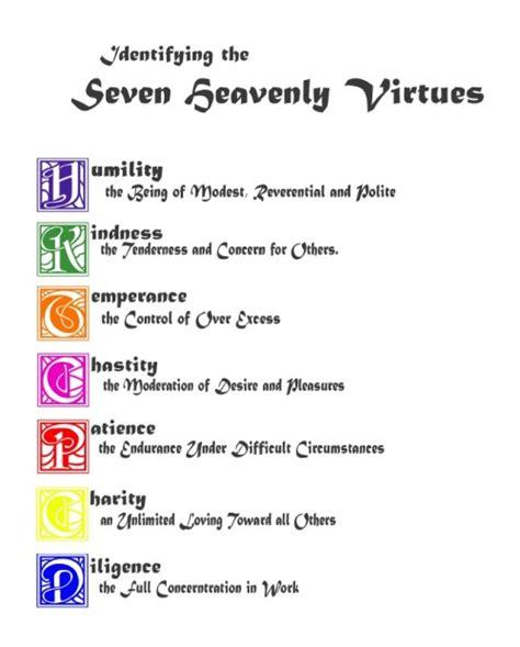 Catholic Virtues Worksheet