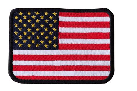 American Flag Embroidered Iron On Motorcycle Biker Vest