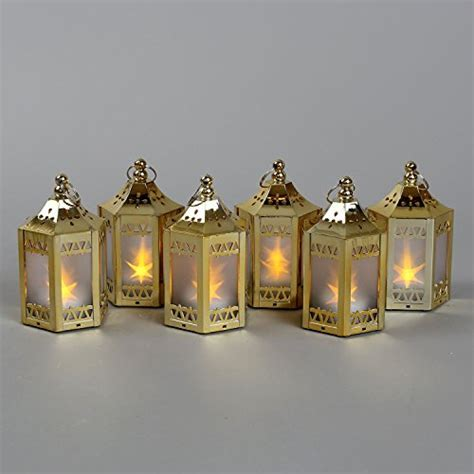 LampLust Gold Mini Battery Operated Plastic Lanterns (6