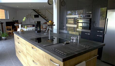 cuisine ouverte petit espace cuisine d 39 inspiration bois macoretz agencement