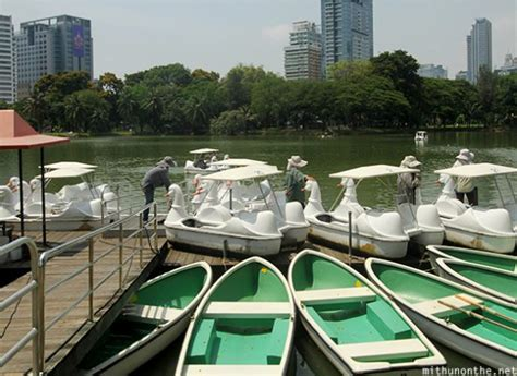 Swan Boats Lumpini Park by Thailand Mithun On The Net