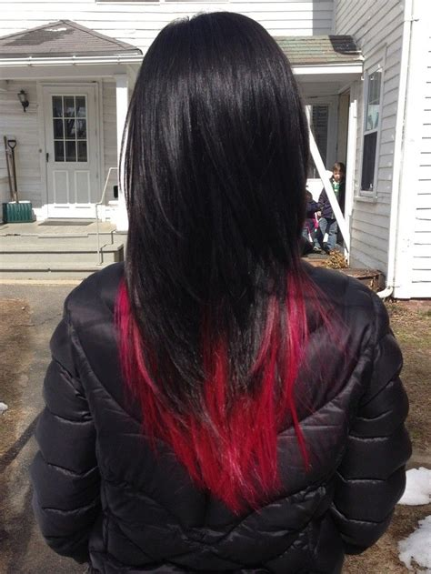 Dark Red Hair Tumblr Black Hair With Red Underneath