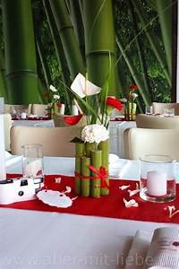 Tischdeko Rot Weiß : tischdeko in rot wei hochzeitsdeko renautria geb ndelt als tischgesteck best ckt mit ~ Indierocktalk.com Haus und Dekorationen