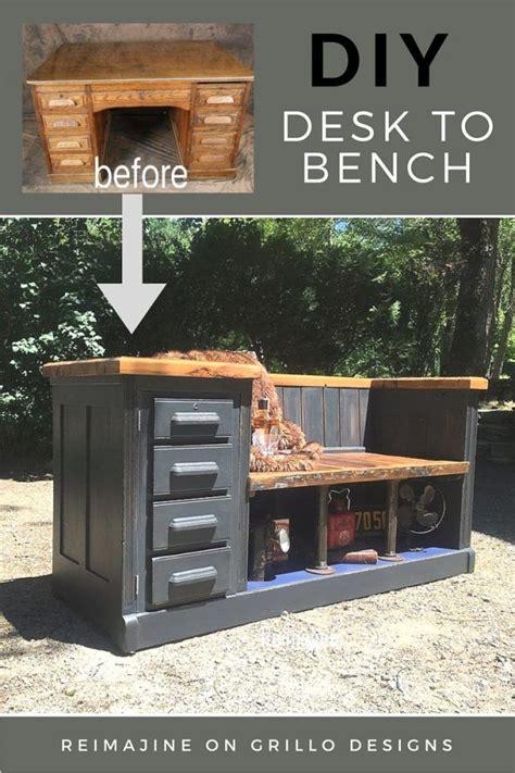diy desk  bench desk makeover furniture makeover diy