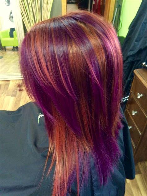 hot  hair coloring technique pinwheel color