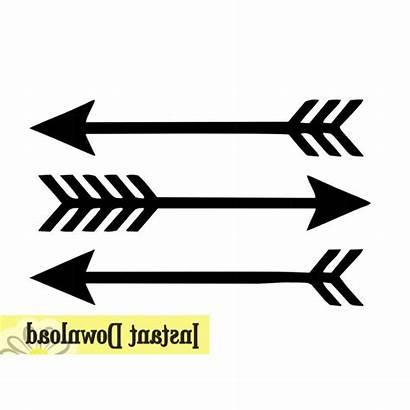 Arrow Arrows Silhouette Clipart Clip Single Getdrawings