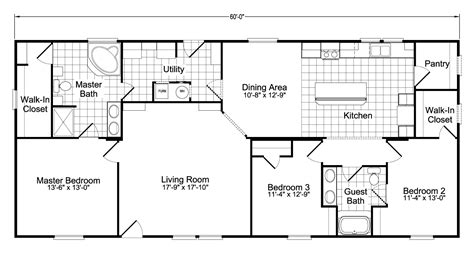 home floor plans model ph28603a manufactured home floor plan or modular