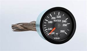Vision Black 265 U00b0f Mechanical Water Temperature Gauge Wit