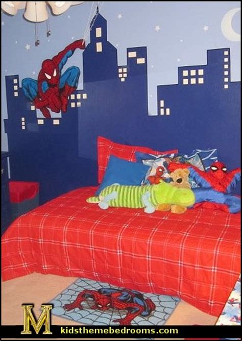 spiderman bedroom ideas decorating theme bedrooms maries manor 13377