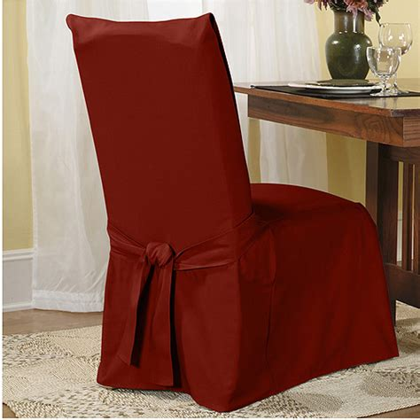 sure fit cotton duck dining chair slipcover walmart com