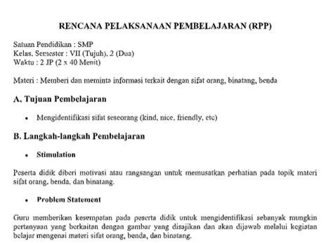 Text of silabus bahasa inggris smp kelas 8. RPP 1 Bahasa Inggris Lembar SMP MTs Kurikulum 2013 Tahun ...