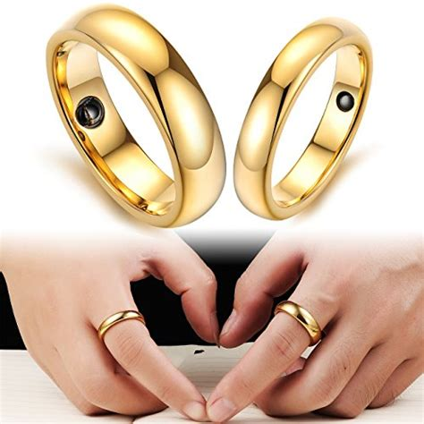 opk jewelry high recommend pure gold tungsten carbide magnetic stone couple wedding rings