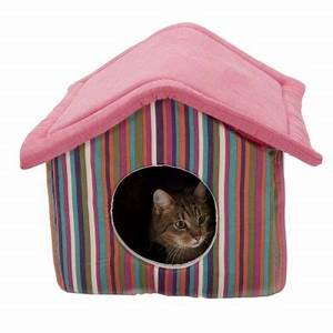 Niche Petit Chien : funny stripes niche pour chat et petit chien zooplus ~ Melissatoandfro.com Idées de Décoration