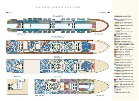 Princess Deck Plan Pdf by Caribbean Princess Deck Plan