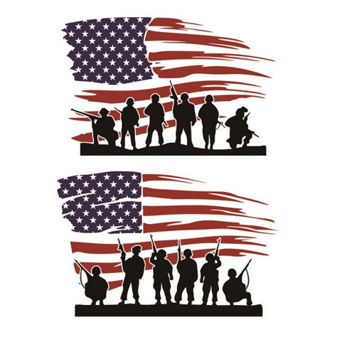 1000 grunge american flag free vectors on ai, svg, eps or cdr. American Soliders US Flag Cuttable Design